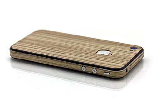 Slick Wraps Wood Skin Zebrawood for iPhone4/4S