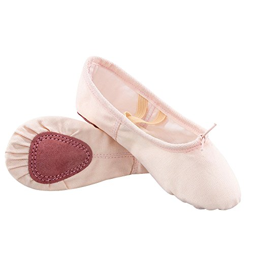 CNPSHOE134 Mujer carne ZAMME Lona de Zapatillas de Danza Para ZOwq6O