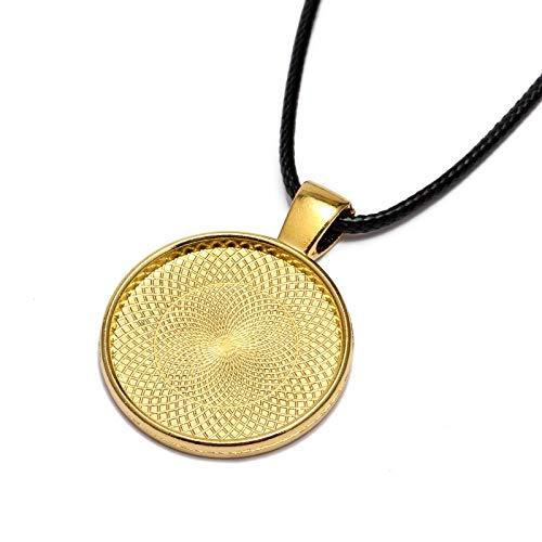 - Pendant Trays - 10pcs 25mm Trays Chain Bronze Necklace Pendant Setting cabochon Cameo Base Tray Bezel Blank Jewelry Making findings B