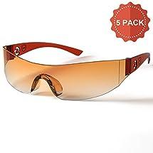 AVANT SAFE Anti-Scratch UV400 Technology Safety Glasses, Pack of 5