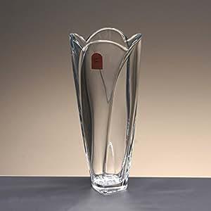 la galaica Florero de Cristal, jarrón, de Bohemia, colección GLOBUS, 25,5 cm. de Altura.