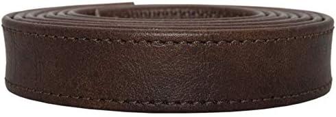 Taschenriemen Rohling Nappa Antik Nappaleder, Ersatzriemen Handtasche, Echtleder, Farbe:braun, Breite:19mm breit