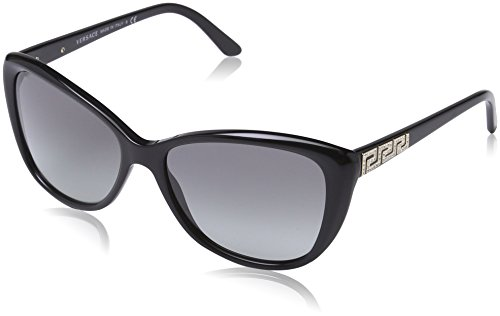 Versace Women's 4264B GB1/11 Frame: Black / Lens: Grey Cat-Eye/Rounded Edges 57mm - Versace Cat Sunglasses Eye