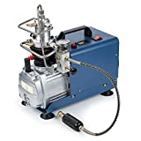 (US) High-Pressure Air Compressor Pump, Auto-Stop 110V 30Mpa Electric Air Pump Air Rifle PCP 4500PSI Paintball Fill Station for Fire Fighting and Diving