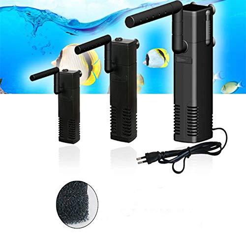 Lanyifang Ap 300-1000 LPH Vertical Interno Acuario Pecera Filtro Incorporado Filtracion Bomba Barra Rociadora Plastico Negro EU (AP-300L)