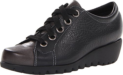 Munro American Women's Dakota Black Leather Oxford 7.5 W (D) (Dakota Black Leather)