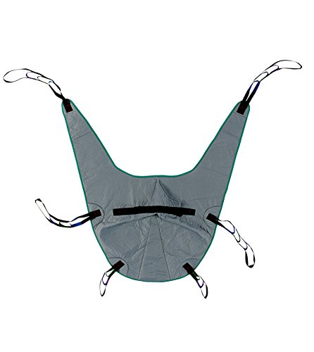 Divided Leg Padded Patient Lift Universal Sling with Head Support, Size Medium, 450lb Capacity (Patient Support)