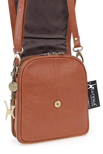 en besace Collection signé cuir Sac Catwalk Tanne type