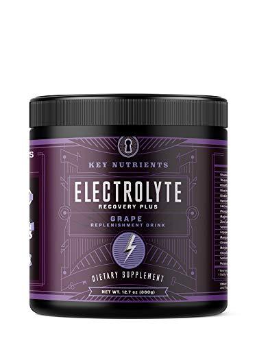 Electrolyte Powder, Grape Hydration Supplement: 90 Servings, Carb, Calorie & Sugar Free, Delicious Keto Replenishment Drink Mix. 6 Key Electrolytes - Magnesium, Potassium, Calcium & More.