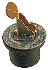 """Snap-Tite Expandable Neoprene Rubber Plug with Brass Cams and Steel Hardware, 3/4"""" x 11/16"""""""