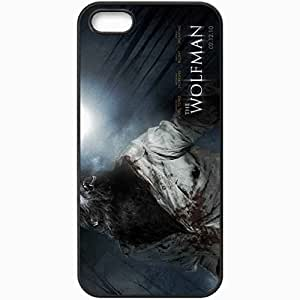 Personalized iPhone 5 5S Cell phone Case/Cover Skin 2010 the wolf man movies Black
