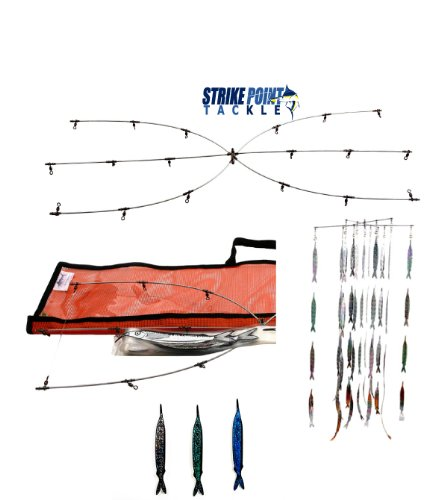 Strike Point Tackle 24'' Dredge & Teaser Kit Pink Fish Strips by Strike Point Tackle