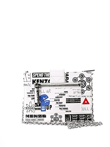 KENZO FEMME F752SA109L2801 BLANC CUIR SAC PORTÉ ÉPAULE