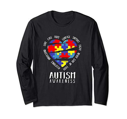 - YasDesign Autism Awareness Long Sleeve T-Shirt