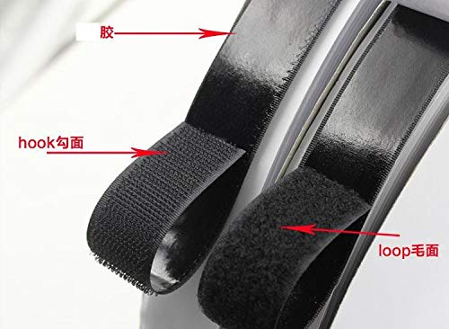 Anncus 2cm25Meters Adhesive Fastener Tape Hook and Loop Sticky Back Fastener Tape White or Black Glue Sticky Straps - (Color: White 2cm 25m) by Anncus