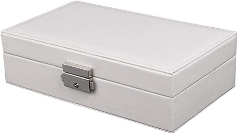 Cula - Estuche portátil para Almacenamiento de Maquillaje para joyería de Viaje para Mujer, joyero Blanco: Amazon.es: Hogar