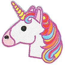 Zad Magical Unicorn Embroidered Iron On Patch Applique, Rainbow