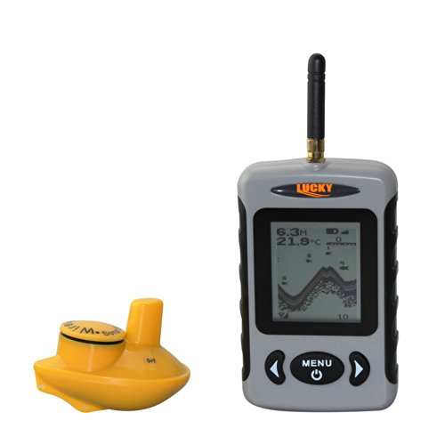 Portable Wireless Fish Finder with White LED Back lighting 90-degree beam angle wireless sensor.Operational Temperature: -4F to 158F(-20℃ to 50℃) suitable for ice fishing. FFW718 Fish Finders And Other Electronics VECTORCOM