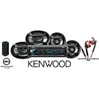 Kenwood KDC-X301 eXcelon CD Receiver with Red 800 Series Kenwood Headphones KH-SR800R and One Pair of TS-165P 6.5 & One Pair of TS-695P 6x9 Pioneer Speakers with a FREE SOTS Air Freshener