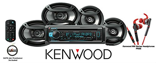 Kenwood KDC-X301 eXcelonCD Receiver with Red 800 Series Kenwood Headphones KH-SR800R andOne Pair of TS-165P 6.5