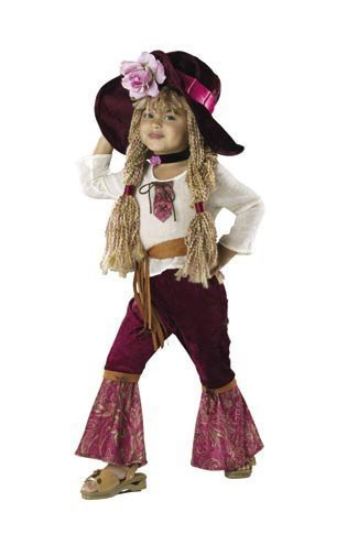 Rubie's Toddlers 'Hippie Diva' Halloween Costume, Maroon/White, 2T-4T