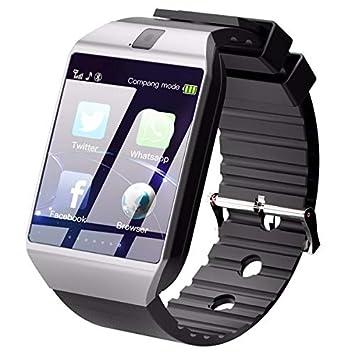 SMSTG Bluetooth Smart Watch Teléfono Dz09 con cámara Tarjeta ...