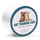Jxselect Anti-Scratch Cat Training Tape - Cat Scratch Prevention Tape for Furniture - Couch - Door - Carpet - Pet Scratch Protector - 3 Inches x 30 Yards …