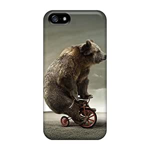 FRXeuhS6387zPMBE MichelleNCrawford Awesome Case Cover Compatible With Iphone 5/5s - Tricycle Bear