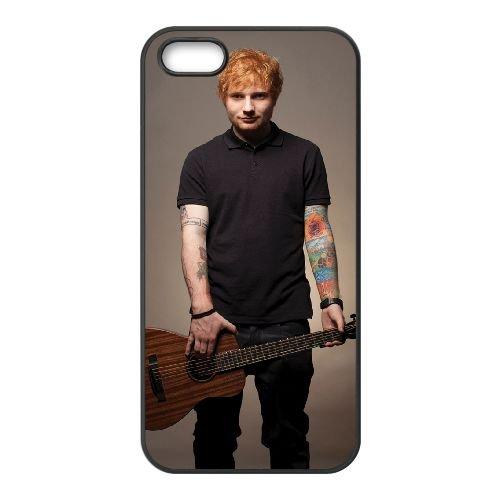 Ed Sheeran 007 coque iPhone 4 4S cellulaire cas coque de téléphone cas téléphone cellulaire noir couvercle EEEXLKNBC24762