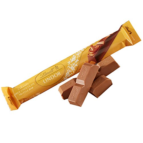Lindt LINDOR Truffle Stick Bar, Caramel Milk Chocolate, 1.3 Ounce (Pack of 24)
