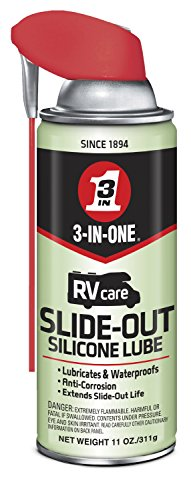- 3-IN-ONE RVcareSlide-Out Silicone Lube with Smart Straw Sprays 2 Ways, 11 OZ [6-Pack]