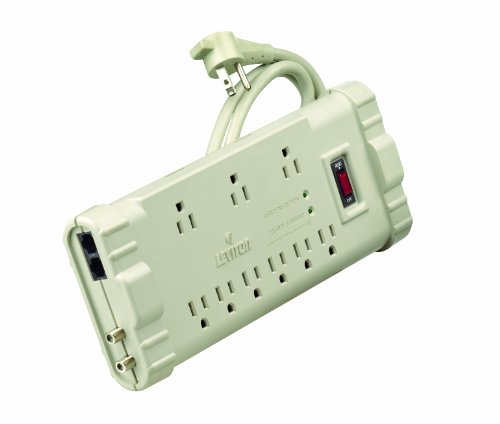 Leviton Home Surge Protector (Leviton S2000-PS 120 Volt/15 Amp, Office Grade Surge Strip, ABS Plastic Enclosure, 6-Ft, 5-15P plug)