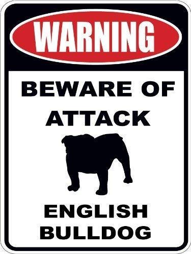 English Bulldog Sign Metal Dog Lover Bulldog