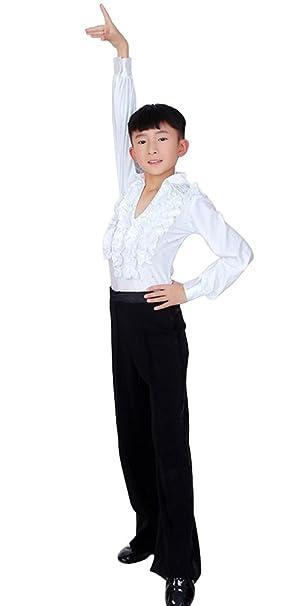 buy popular 8352a 376f9 BOZEVON Ragazzo Ballo Latino Abito Bambini Camicia Pantaloni ...