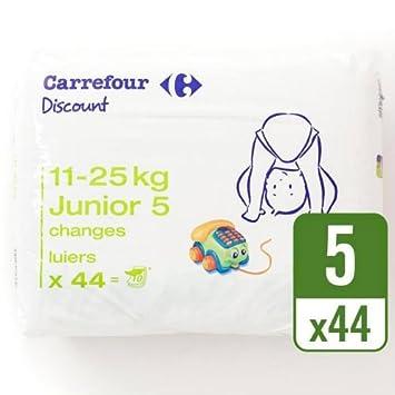 Carrefour descuento tamaño 5 Carry Pack funda de 44 por paquete de 4: Amazon.es: Bebé