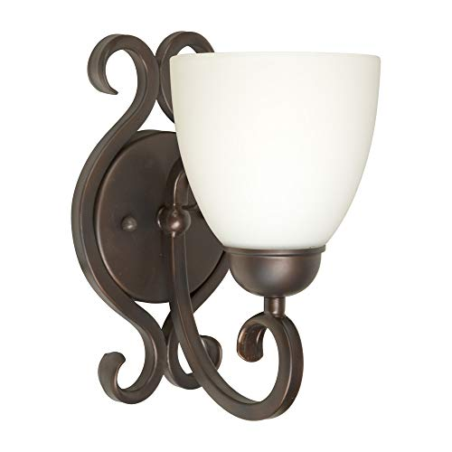 Indoor Wall Sconce Forte Lighting - Forte Lighting 5250-01-32 Signature 1 Light 5 inch Antique Bronze Wall Sconce Wall Light