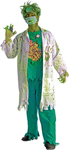 Forum Novelties Men's Biohazard Zombie Surgeon Costume, Multi, Standard (Mad Doctor Halloween Costume)