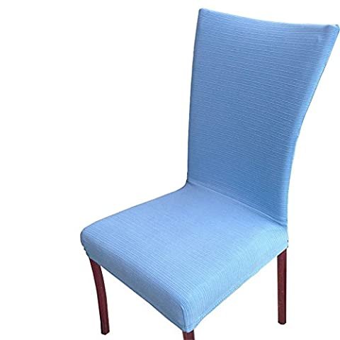 Uleade™ Stripe Weave Stretch Removable Dining Room Chair Protector Slipcovers ,Blue 4 PCS (Indoor Chaise Chair Cover)