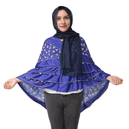 - Women's Elegant Modest Muslim Islamic Ramadan Soft Lightweight Jersey Hijab Long Scarf