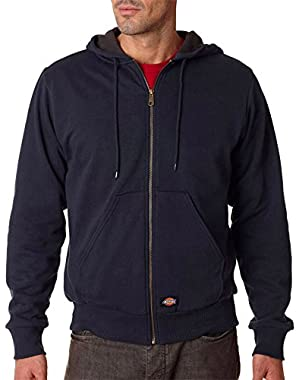 Adult Thermal-Lined Pocket Hooded Fleece Jacket, DARK NAVY, XXX-Large
