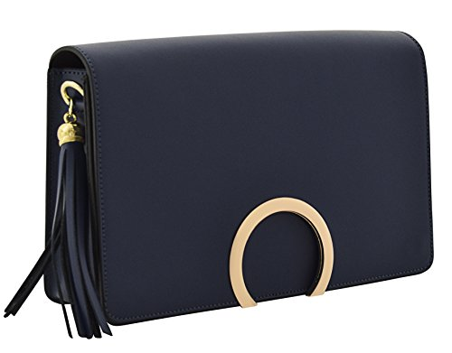 Shoulder Body Blue Bags Women's Bags Cross Leather ALBA Handbags Genuine wEIfnq