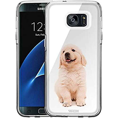Samsung Galaxy S7 Edge Case, Snap On Cover by Trek Puppy Golden Retriever One Piece Trans Case Sales
