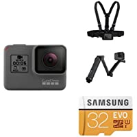 GoPro HERO5 Black w/ Chest Mount, 3-Way Grip and SD Card