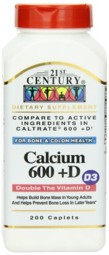 21st Century Calcium 600 Mg +D, 200 Caplets Review