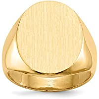 IceCarats 14k Yellow Gold Mens Signet Band Ring Size 9.25 Men
