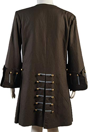 Cosplaysky Halloween Jack Sparrow Costume Pirates of The Caribbean 4 Cosplay Coat XXX-Large by Cosplaysky (Image #5)