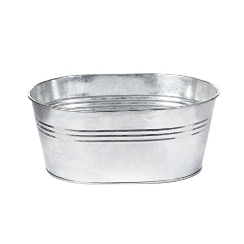 Skalny Oval Tin Tub Planter, 11