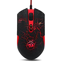 Redragon M701 Lavawolf 3500 DPI Optical Gaming Mouse for PC, 7 Programmable Buttons, Omron Micro Switches, (Black)