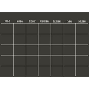 Wall Pops WPE Black Dry Erase Calendar Decal Amazoncom - Black dry erase calendar
