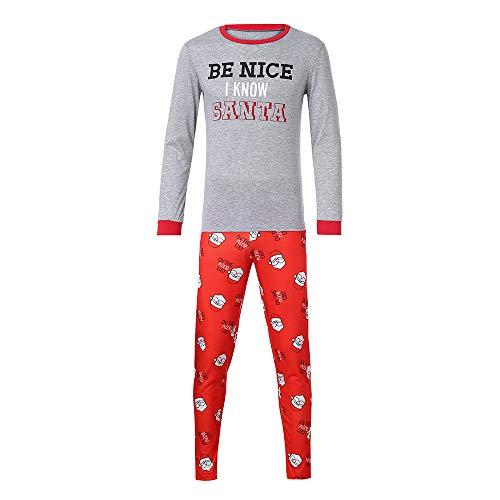 (Holiday Matching Family Christmas Xmas Pajamas PJs Sets Santa Match Sleepwear Collection (XL/Bust:40.2